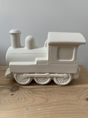NO FIRE Paint Your Own Pottery Kit -  Ceramic Train Bank Acrylic Painting Kit