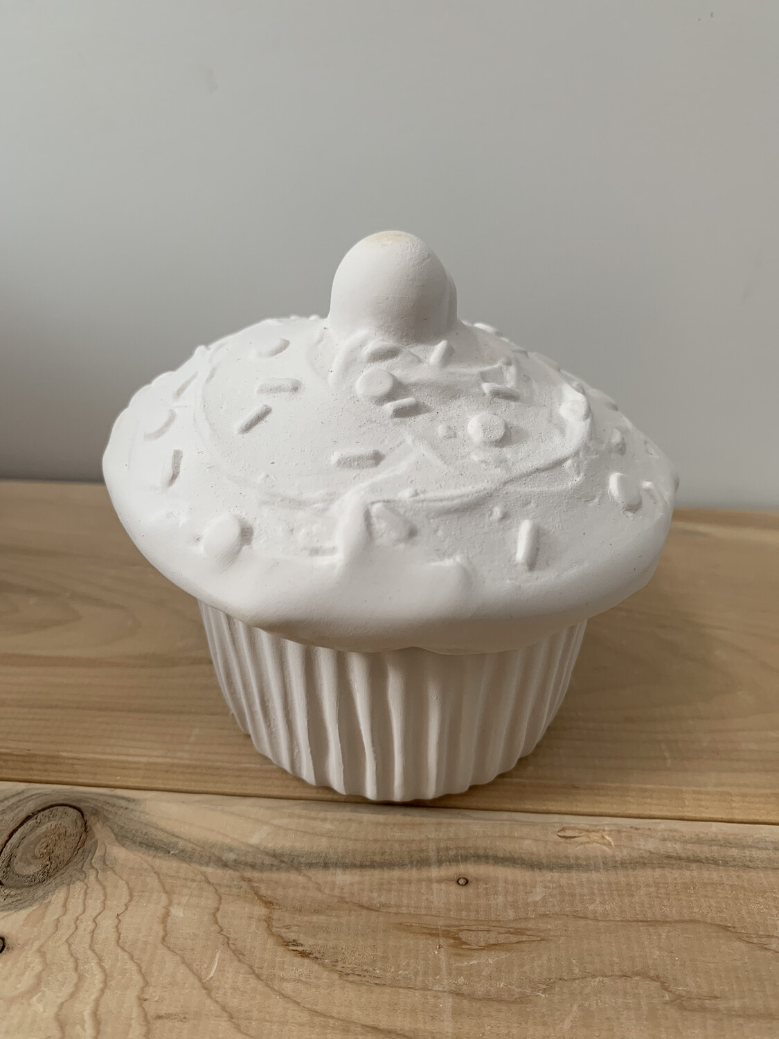 Paint Your Own Pottery - Ceramic   Cupcake Box Painting Kit