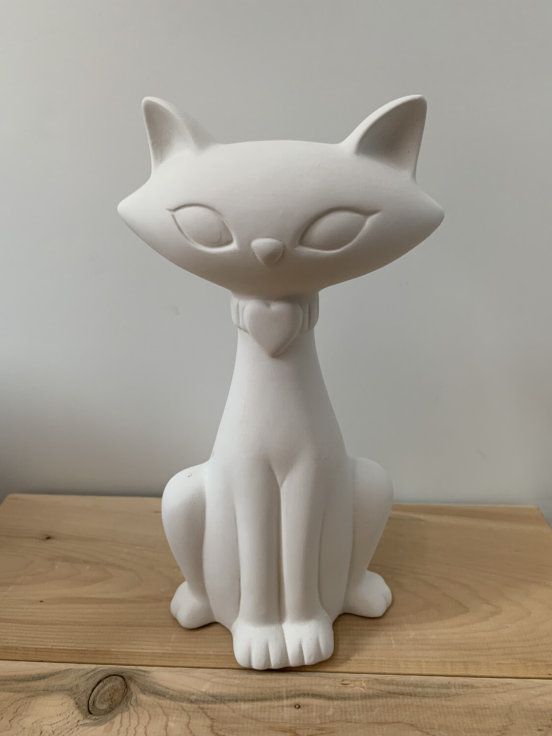 NO FIRE Paint Your Own Pottery Kit -  Ceramic Modern Glam Kitty Cat Figurine Acrylic Painting Kit