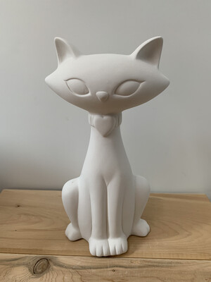 Paint Your Own Pottery - Ceramic   Modern Cat Figurine Painting Kit