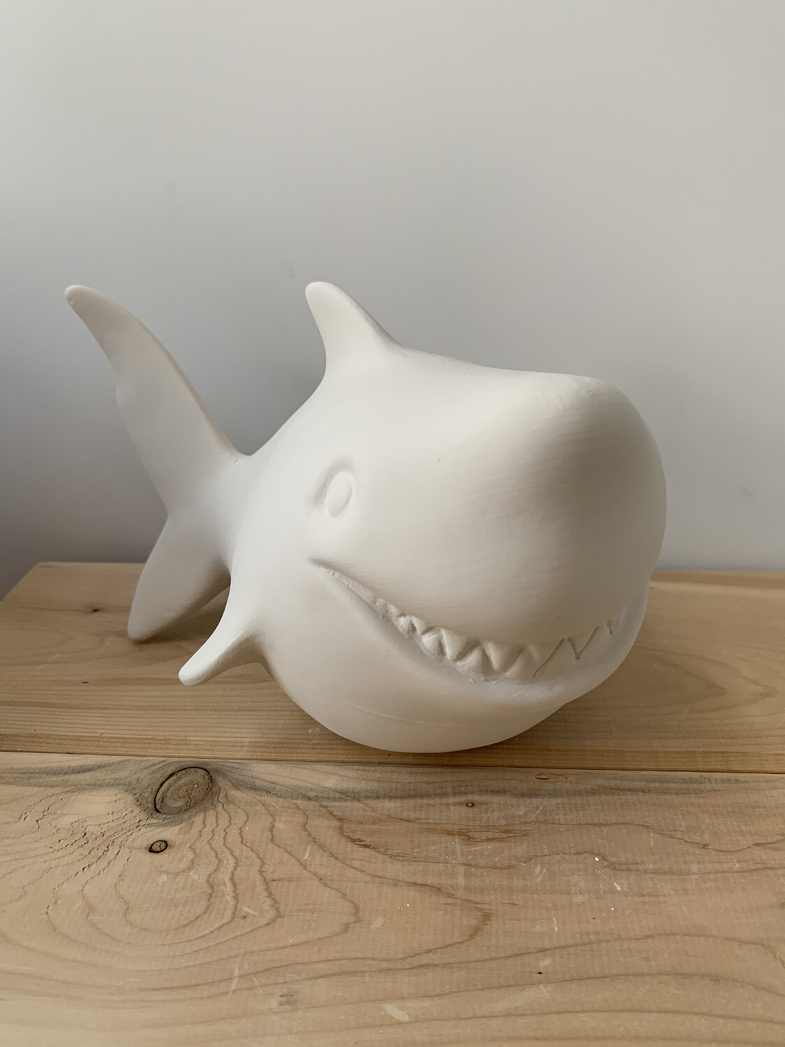 NO FIRE Paint Your Own Pottery Kit -  Ceramic Shark Bank Acrylic Painting Kit