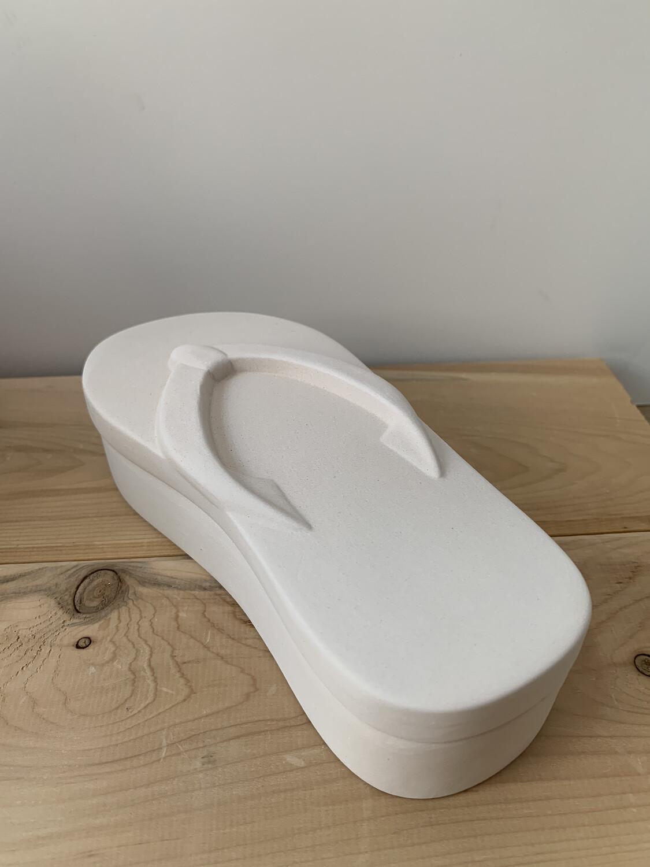 Paint Your Own Pottery - Ceramic   Flip Flop Sandal Box Painting Kit