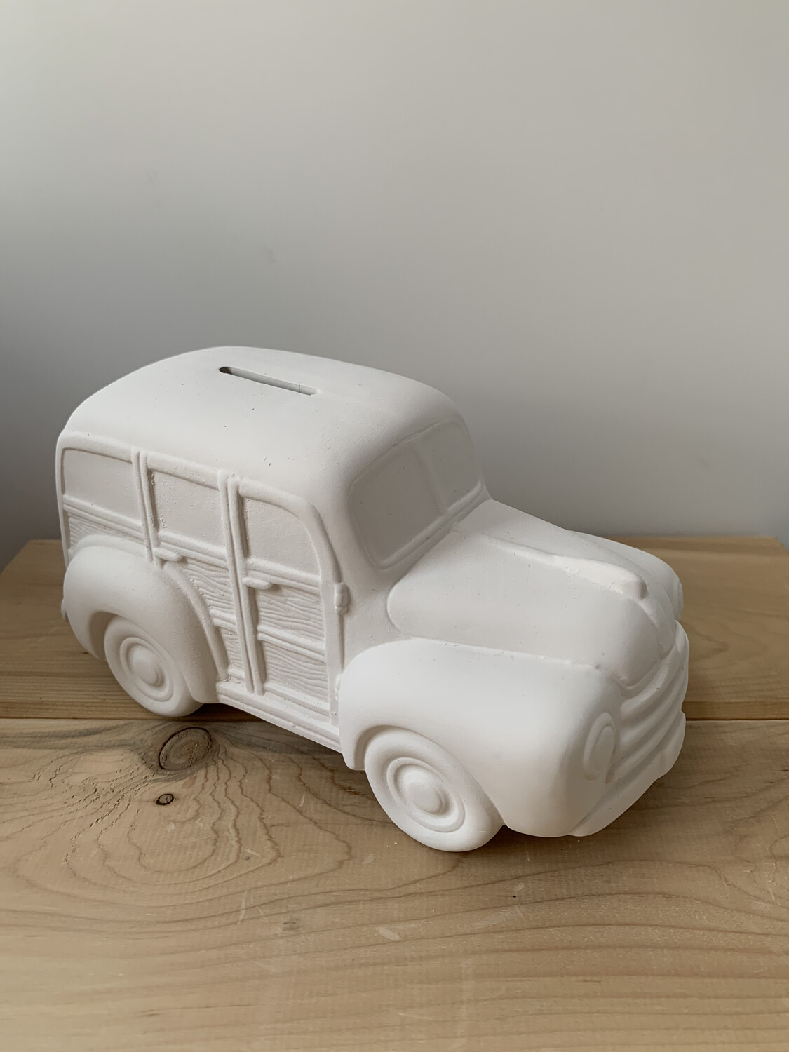 Paint Your Own Pottery - Ceramic  Beach Woody Wagon Bank Painting Kit