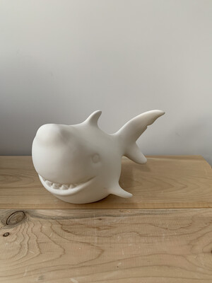 Paint Your Own Pottery - Ceramic   Shark Figurine Painting Kit