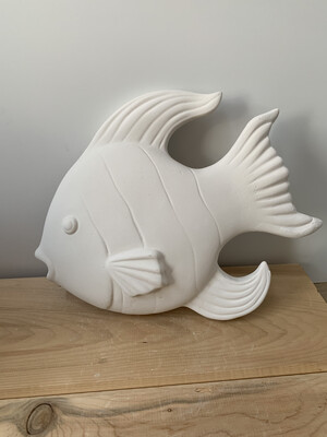 Paint Your Own Pottery - Ceramic   Fish Wall Plaque Painting Kit