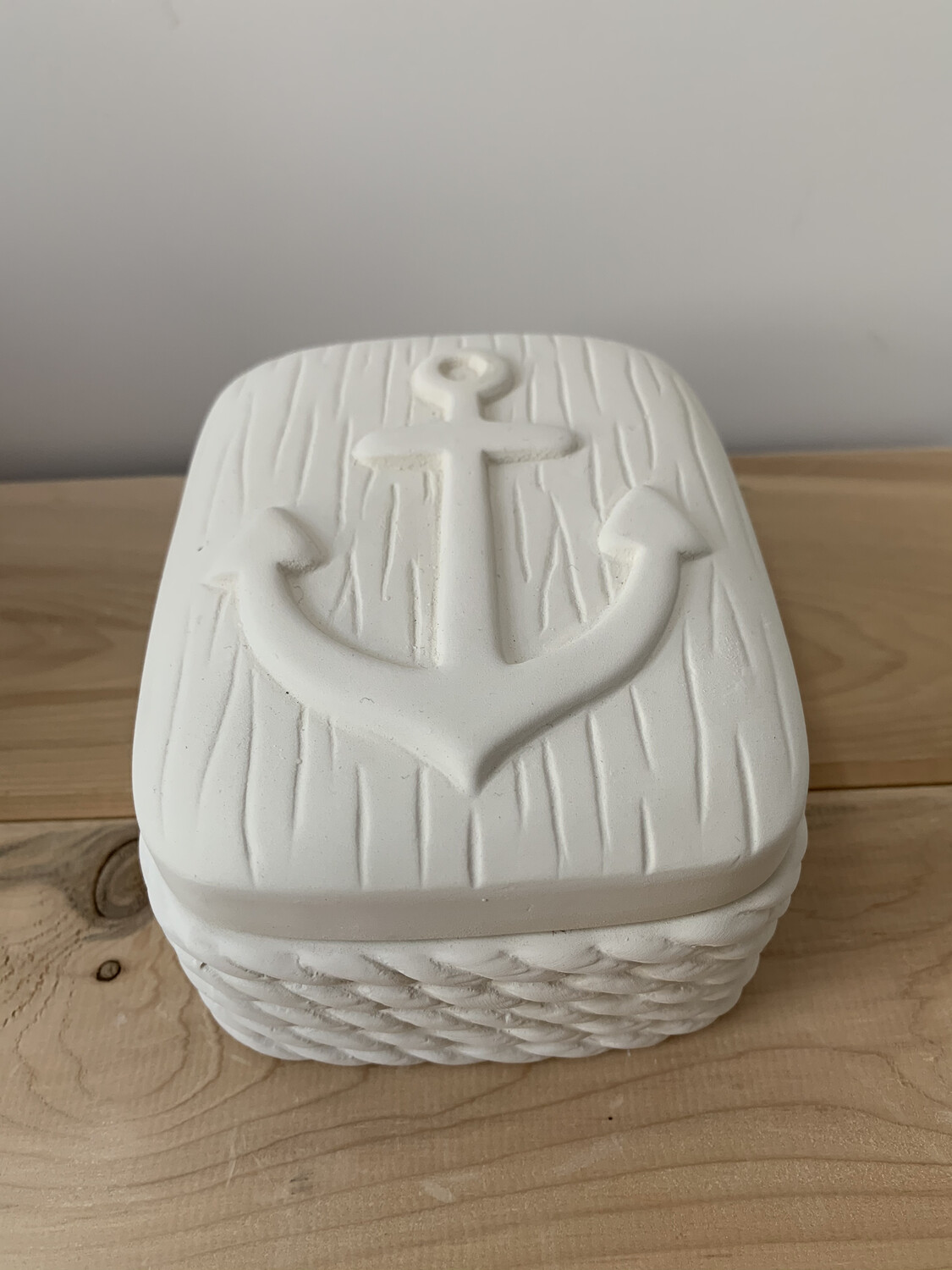Paint Your Own Pottery - Ceramic  Nautical Anchor Box Painting Kit