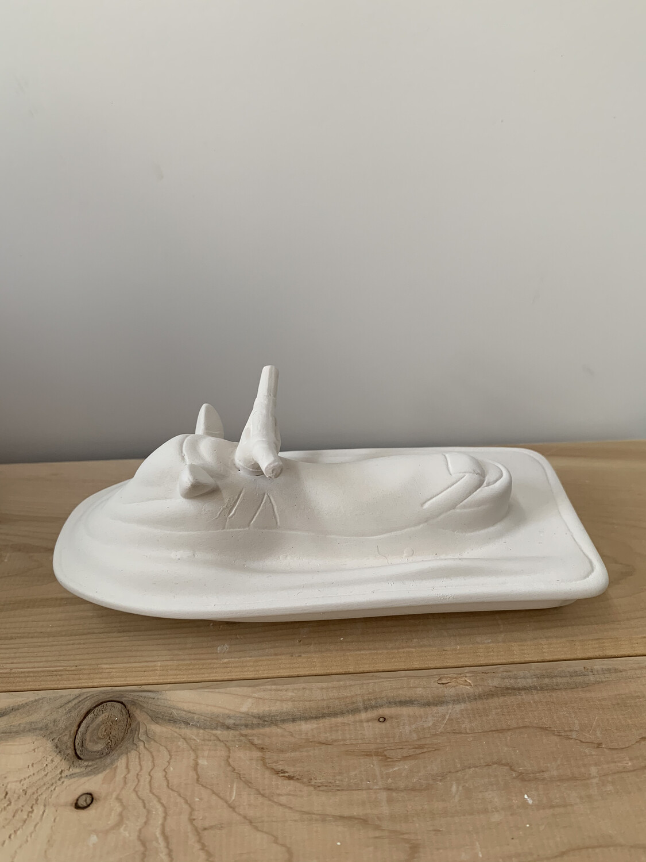 NO FIRE Paint Your Own Pottery Kit -  Ceramic Jetski Acrylic Painting Kit
