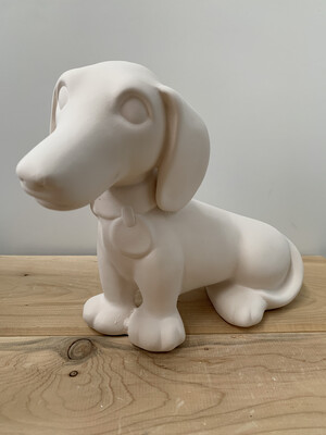 Paint Your Own Pottery - Ceramic   Dachshund Puppy Hound Dog Bank Painting Kit
