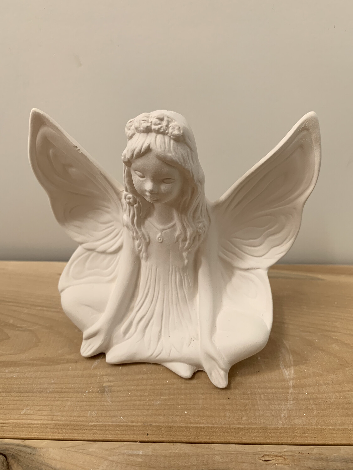 NO FIRE Paint Your Own Pottery Kit -  Ceramic Small Lotus Fairy Figurine Acrylic Painting Kit