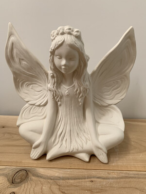 NO FIRE Paint Your Own Pottery Kit -  Ceramic Lotus Fairy Figurine Acrylic Painting Kit