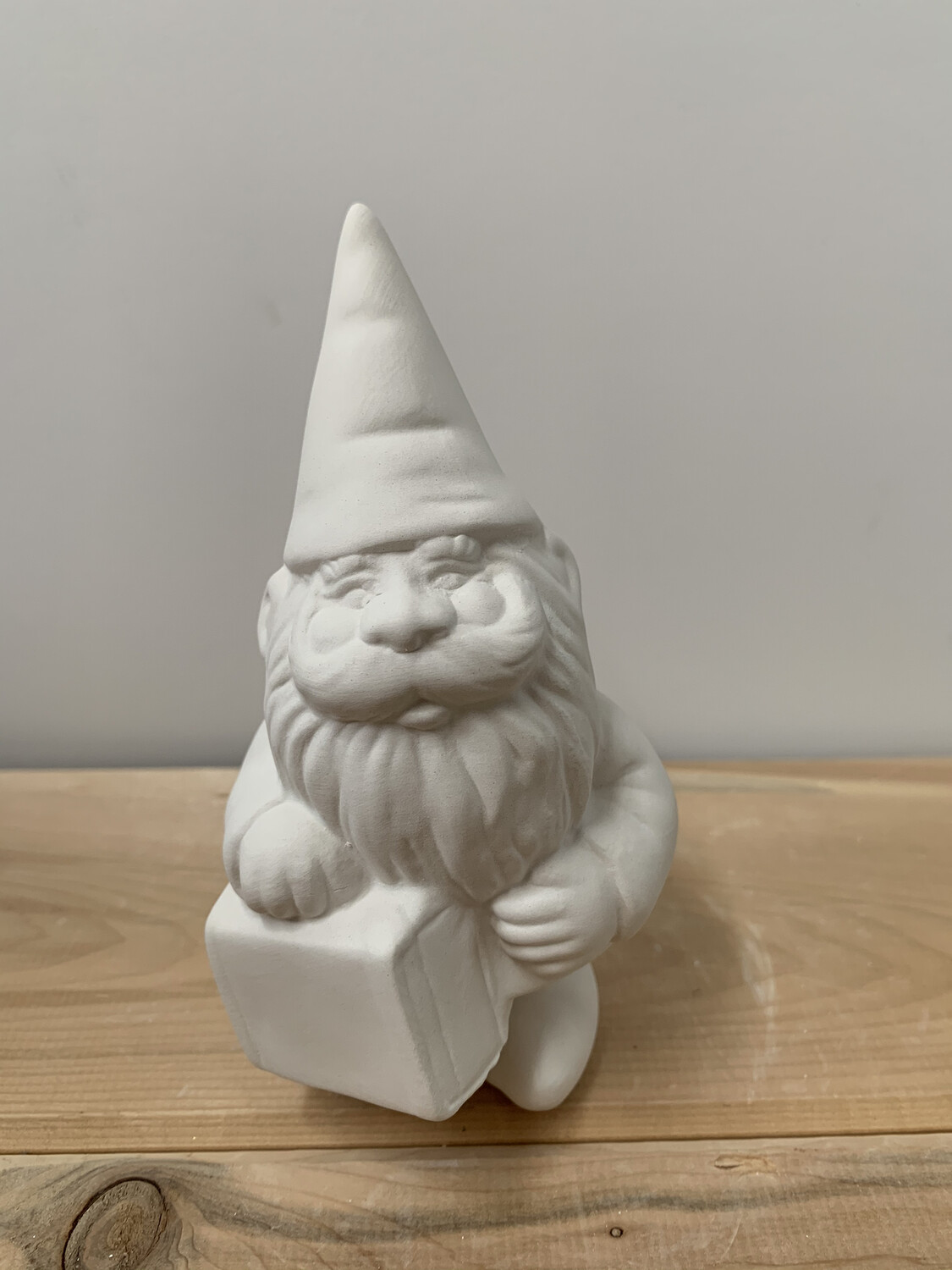 NO FIRE Paint Your Own Pottery Kit -  Ceramic Gnome Figurine Acrylic Painting Kit