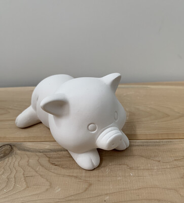 Paint Your Own Pottery - Ceramic   Wilbur Pig Figurine Painting Kit