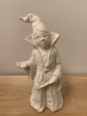 NO FIRE Paint Your Own Pottery Kit -  Ceramic Wizard Boy Figurine Acrylic Painting Kit