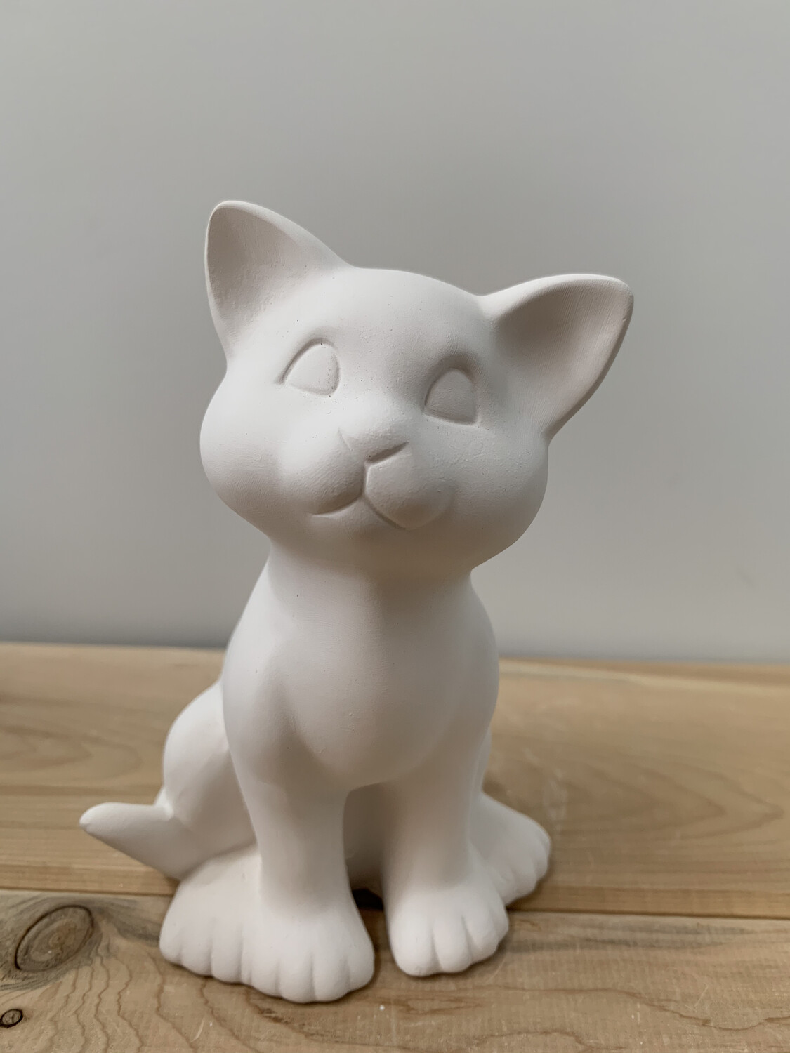 NO FIRE Paint Your Own Pottery Kit -  Ceramic Kitty Cat Figurine Acrylic Painting Kit