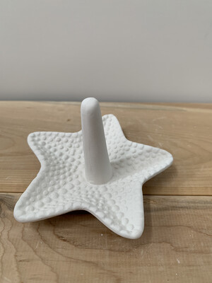Paint Your Own Pottery - Ceramic   Starfish Ring Holder Painting Kit