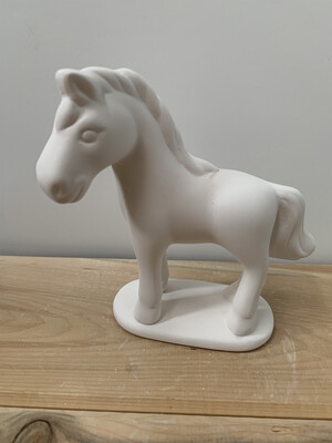 NO FIRE Paint Your Own Pottery Kit -  Ceramic Horse Acrylic Painting Kit
