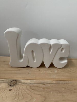 Paint Your Own Pottery - Ceramic   Love Word Plaque Painting Kit