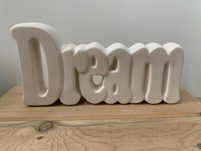 Paint Your Own Pottery - Ceramic   Dream Word Plaque Painting Kit