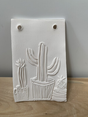 Paint Your Own Pottery - Ceramic   Lookin' Sharp Cactus Tile Painting Kit