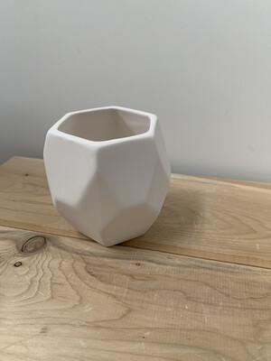 Paint Your Own Pottery - Ceramic   Prism Succulent Planter Painting Kit
