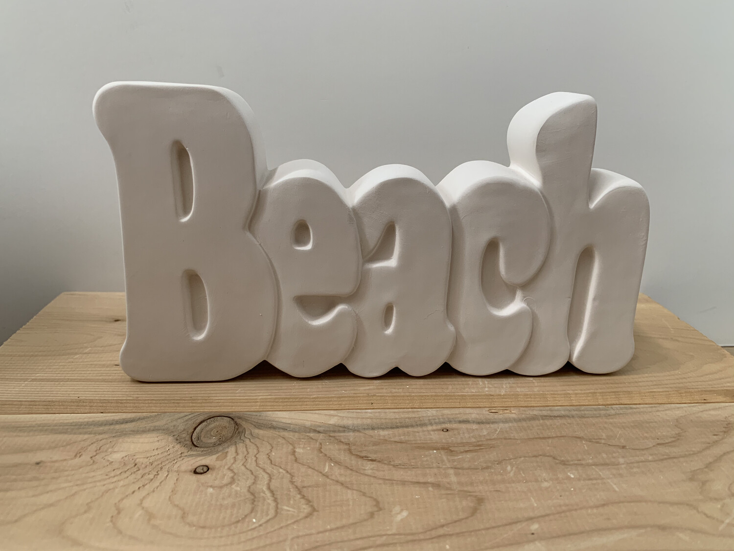 Paint Your Own Pottery - Ceramic   Beach Word Plaque Painting Kit