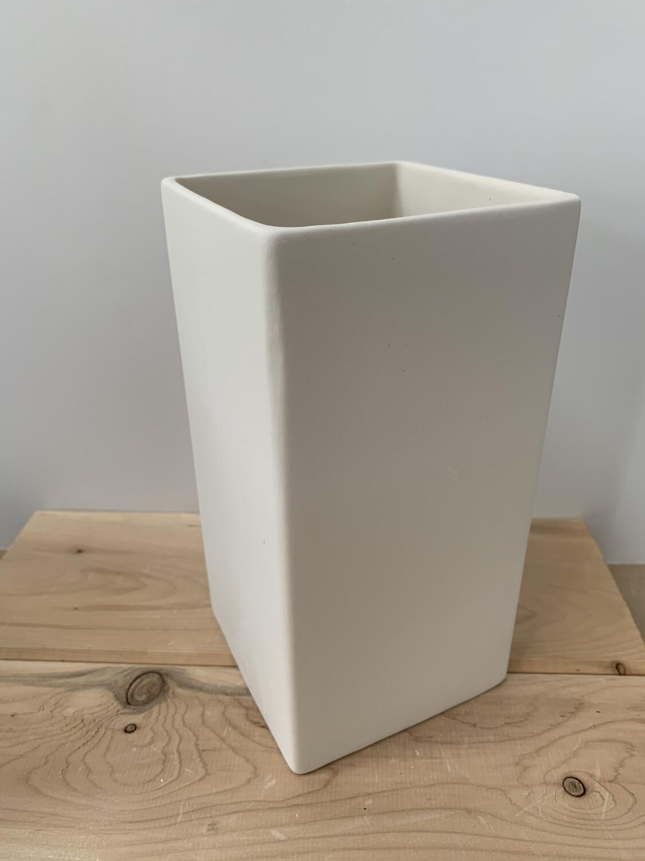 Paint Your Own Pottery - Ceramic   Medium Cube Vase Painting Kit