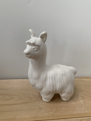 Paint Your Own Pottery - Ceramic  Llama Figurine Painting Kit