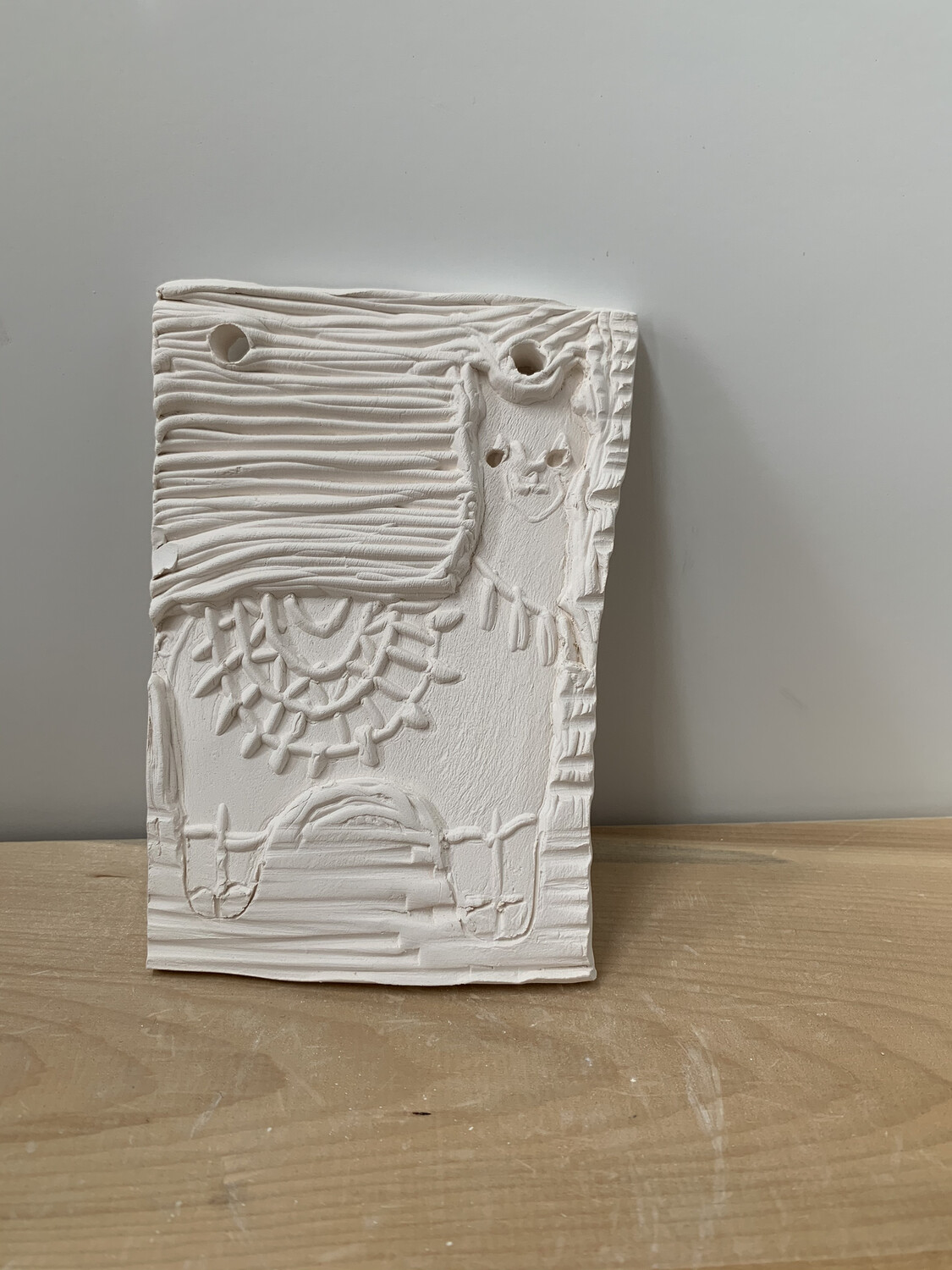 Paint Your Own Pottery - Ceramic  Llama Tile  Painting Kit