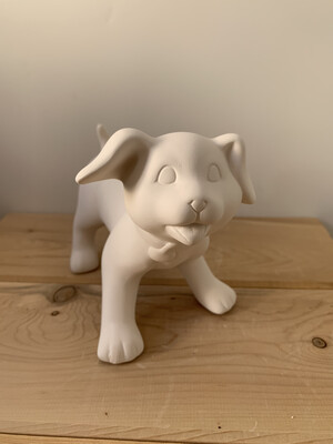 Paint Your Own Pottery - Ceramic   Puppy Dog Figurine Painting Kit