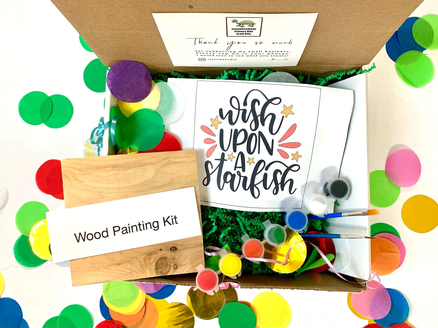 WISH UPON A STARFISH Paint Your Own Wood Sign Kit