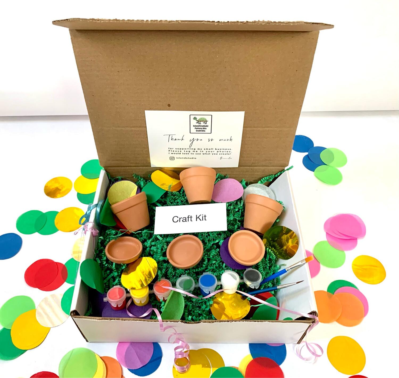 Mini Flower Pot Painting Set - Garden Craft Kit