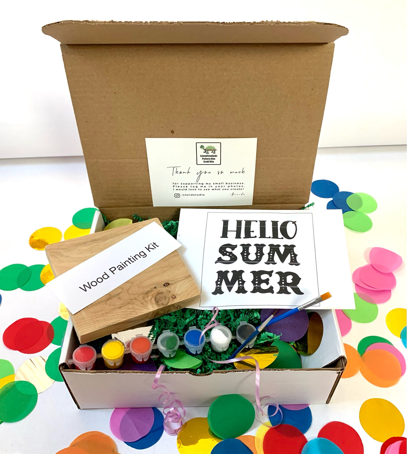 HELLO SUMMER Paint Your Own Wood Sign Kit
