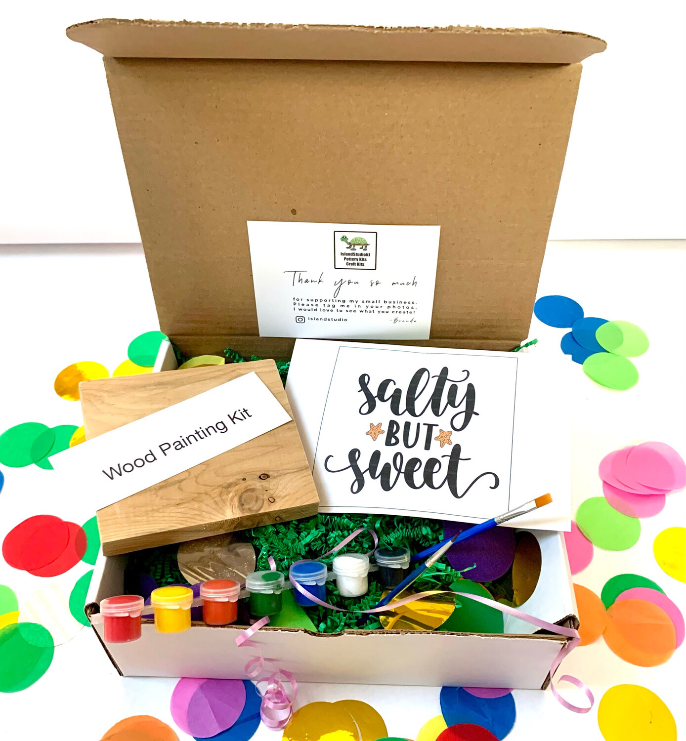 SALTY BUT SWEET Paint Your Own Wood Sign Kit