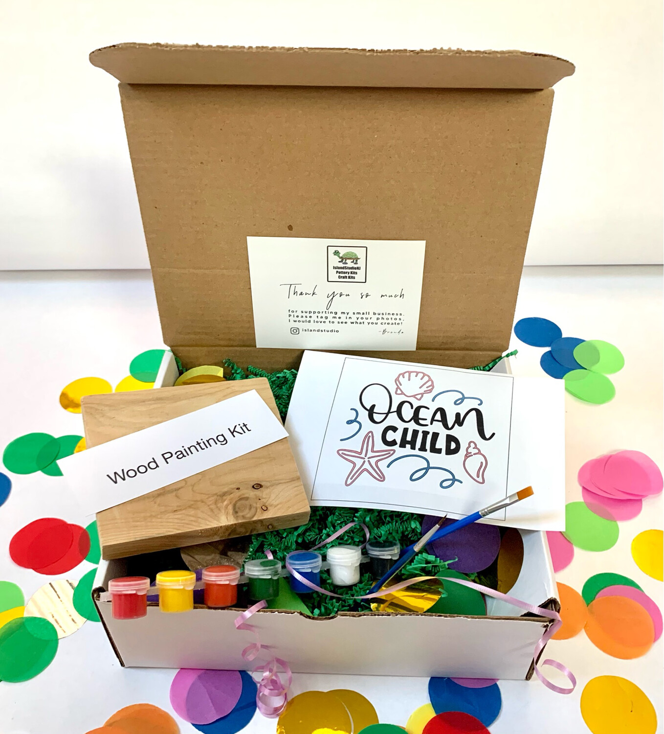 OCEAN CHILD Paint Your Own Wood Sign Kit