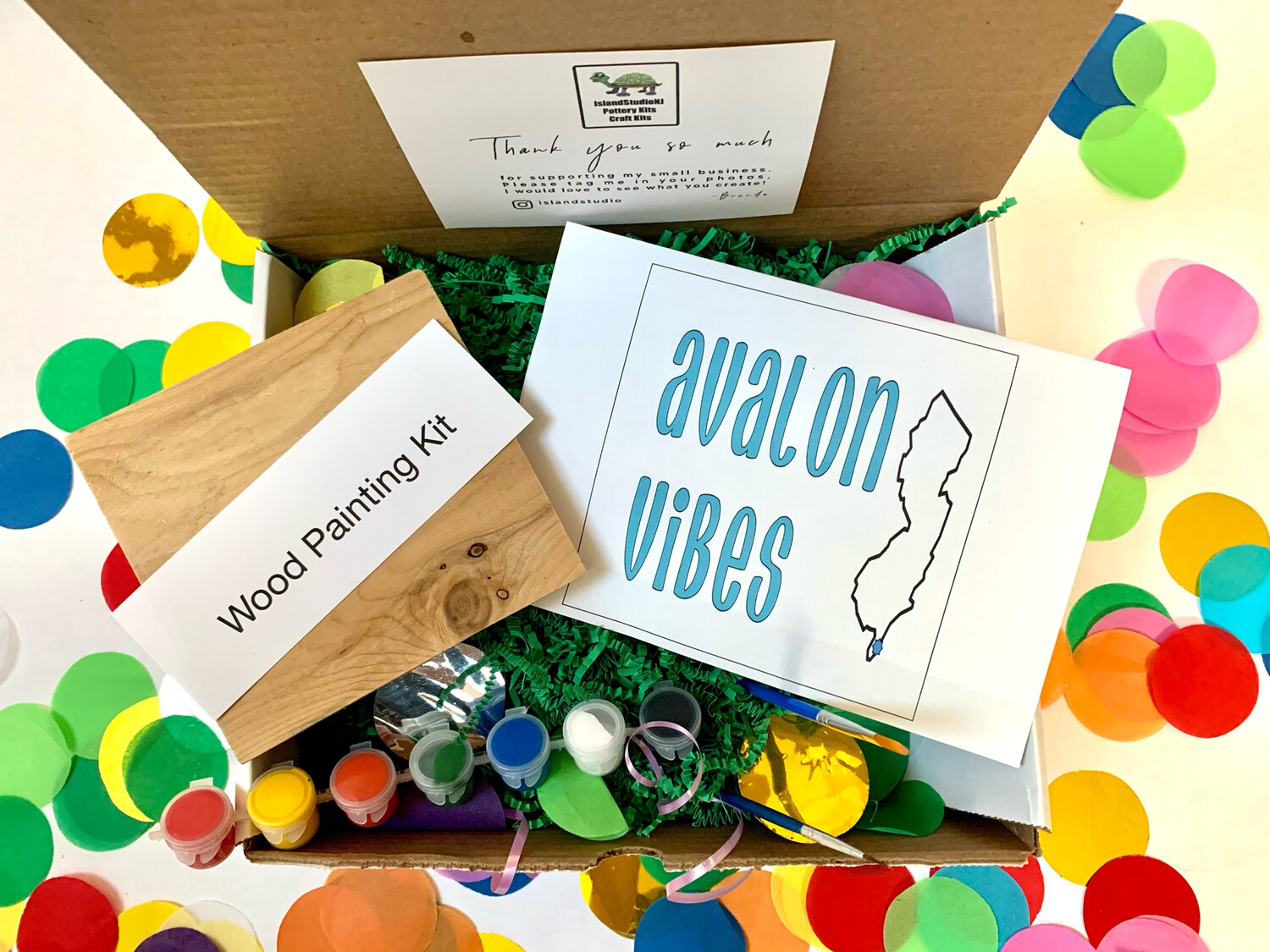 AVALON VIBES Paint Your Own Wood Sign Kit