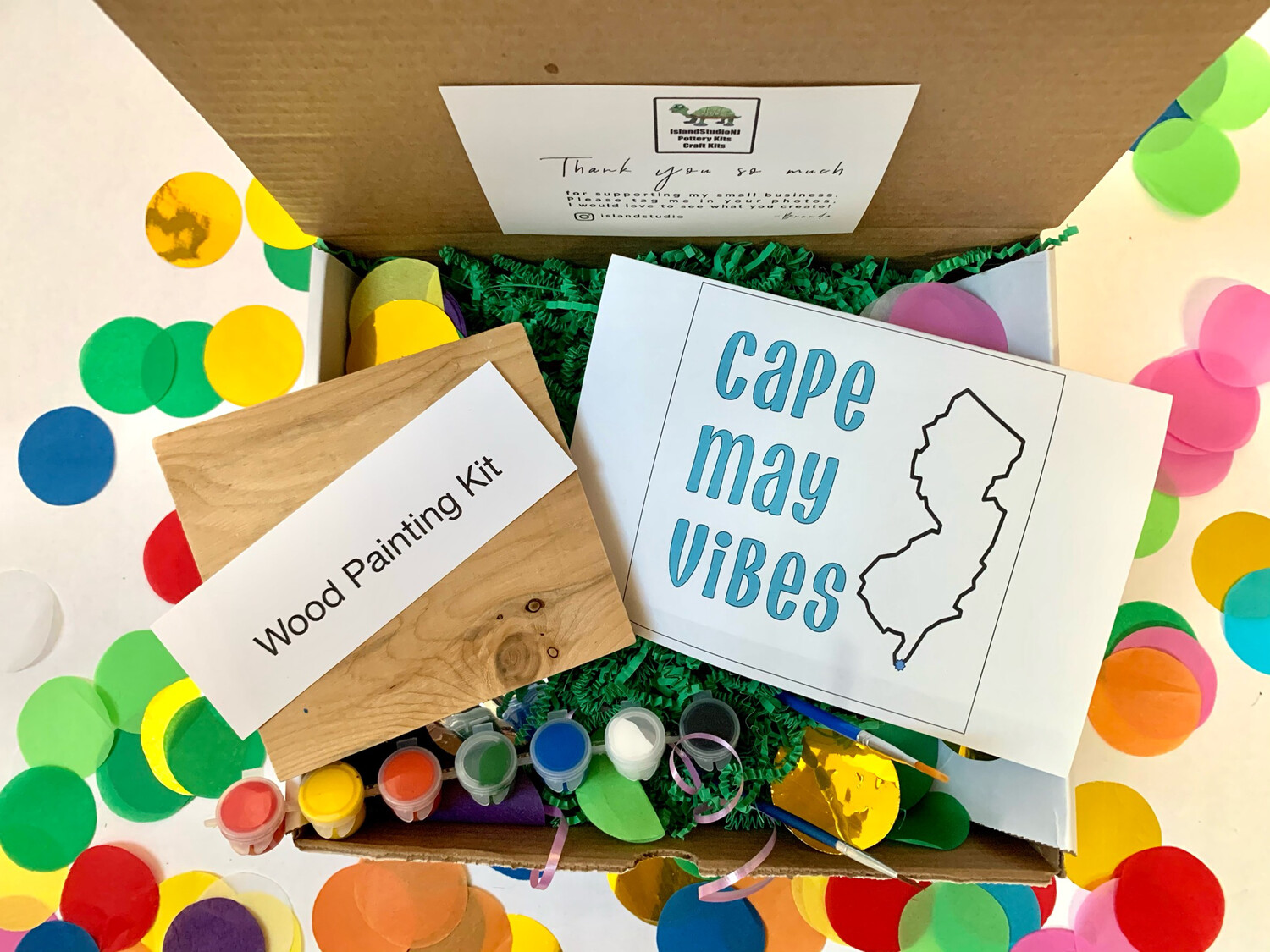 CAPE MAY VIBES Paint Your Own Wood Sign Kit