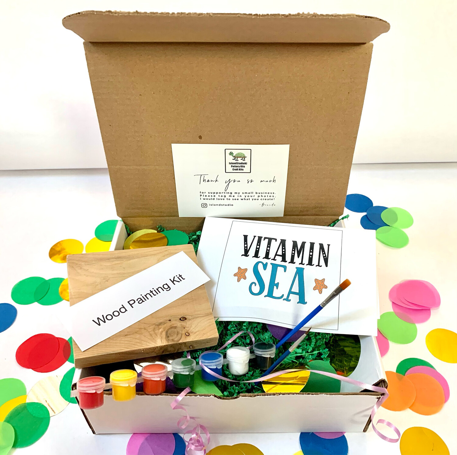 VITAMIN SEA Paint Your Own Wood Sign Kit