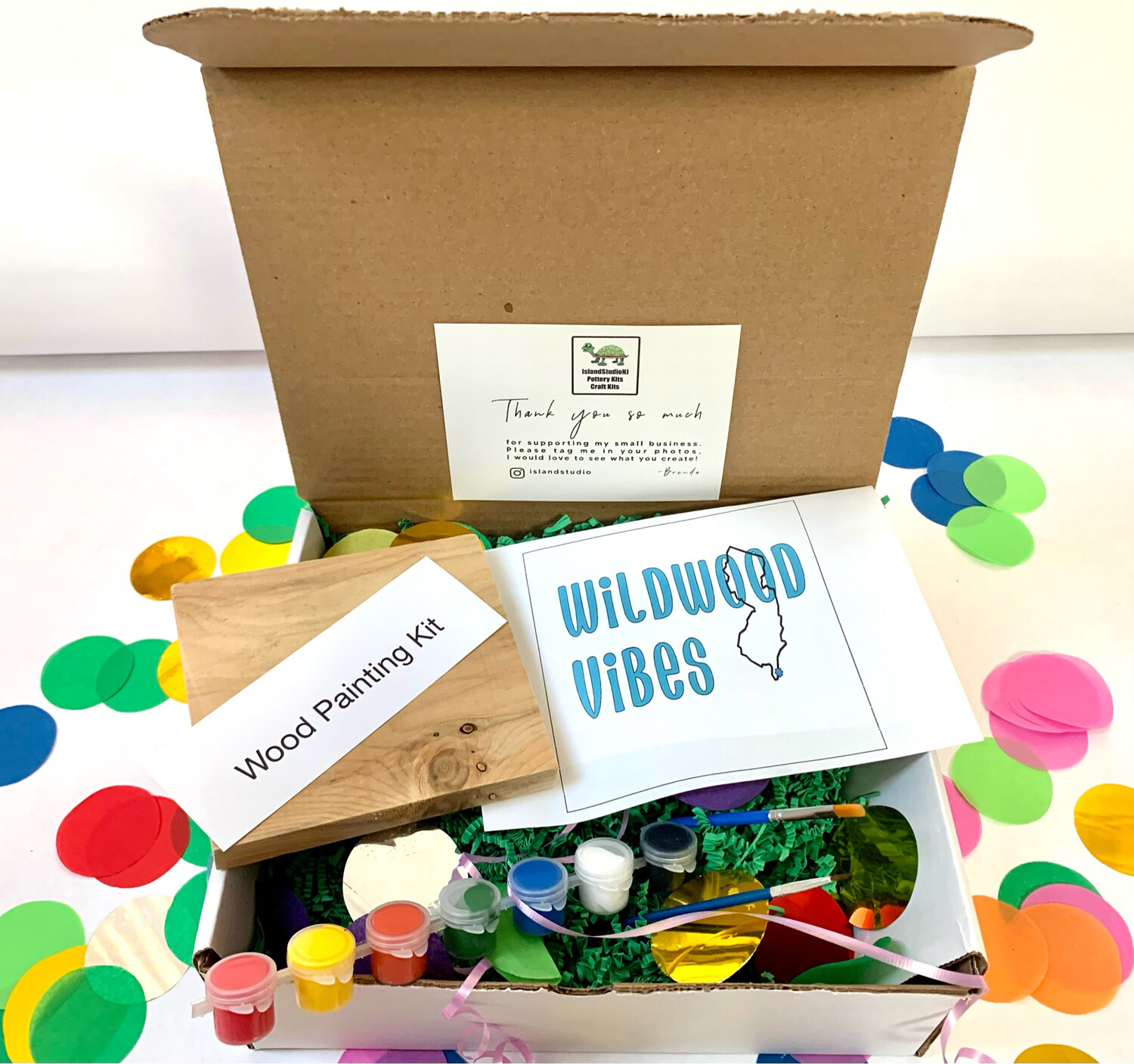 WILDWOOD VIBES Paint Your Own Wood Sign Kit