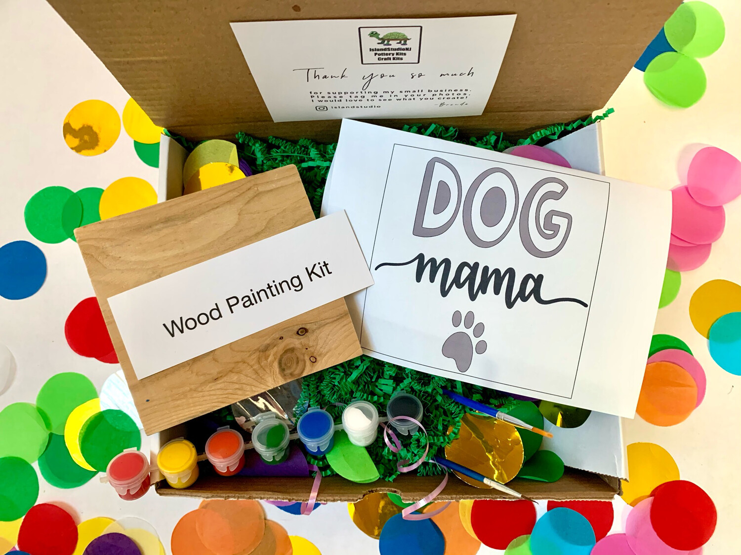 DOG MAMA Paint Your Own Wood Sign Kit