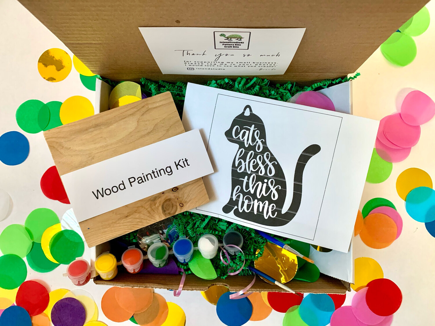 CATS BLESS THIS HOME Paint Your Own Wood Sign Kit