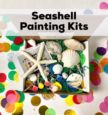 Seashell Acrylic Painting Kit - 5 Unpainted Shells