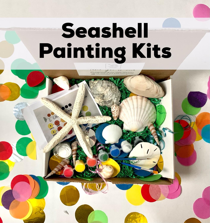 Seashell Acrylic Painting Kit - 10 Unpainted Shells
