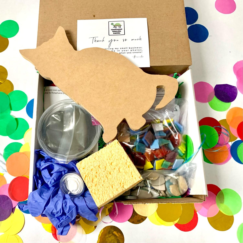 "Make Your Own Mosaic - 10"" Kitten Wall Cat Plaque - DIY Craft Kit"
