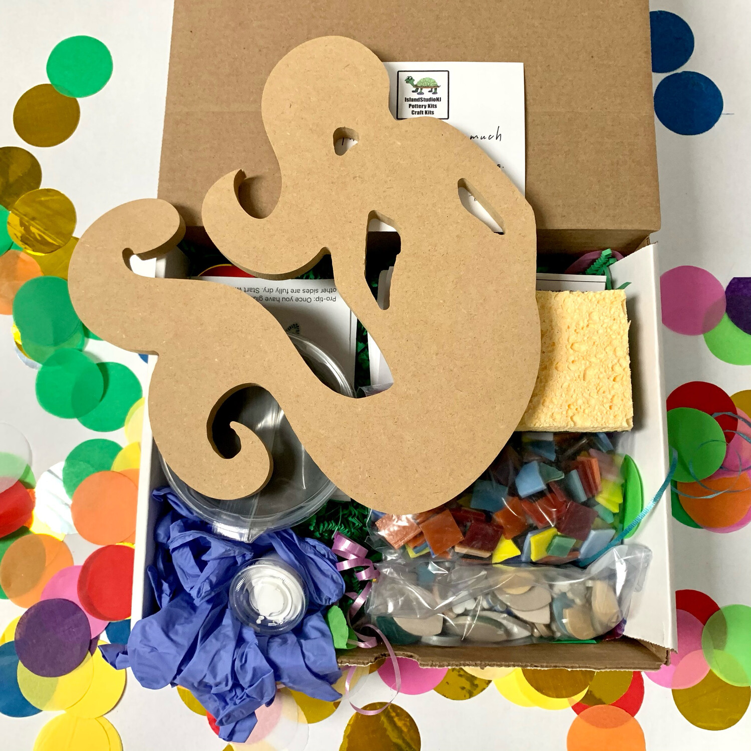 """Make Your Own Mosaic - 11"""" Mermaid Wall Plaque - DIY Craft Kit"""
