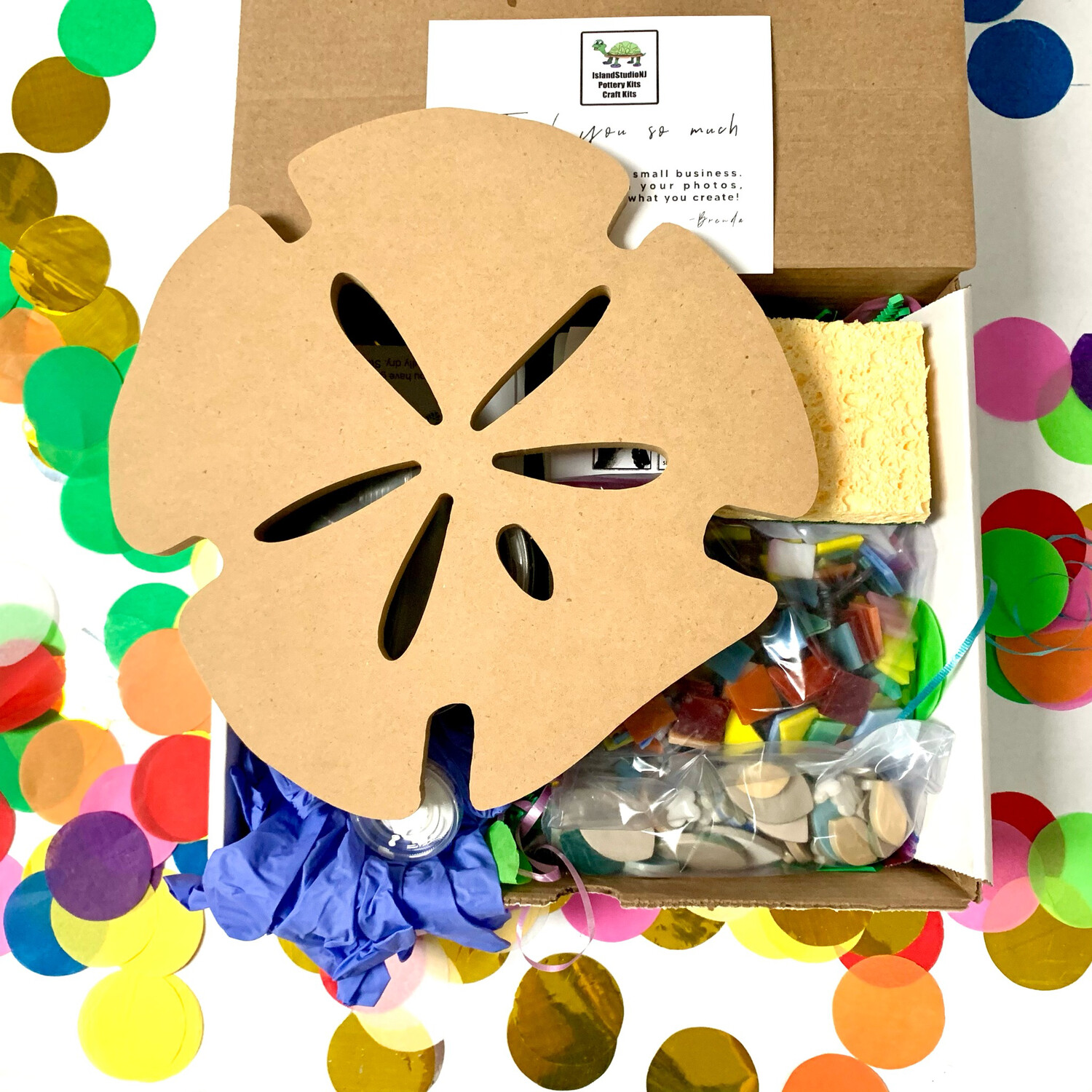 """Make Your Own Mosaic - 10"""" Sand Dollar Wall Plaque - DIY Craft Kit"""