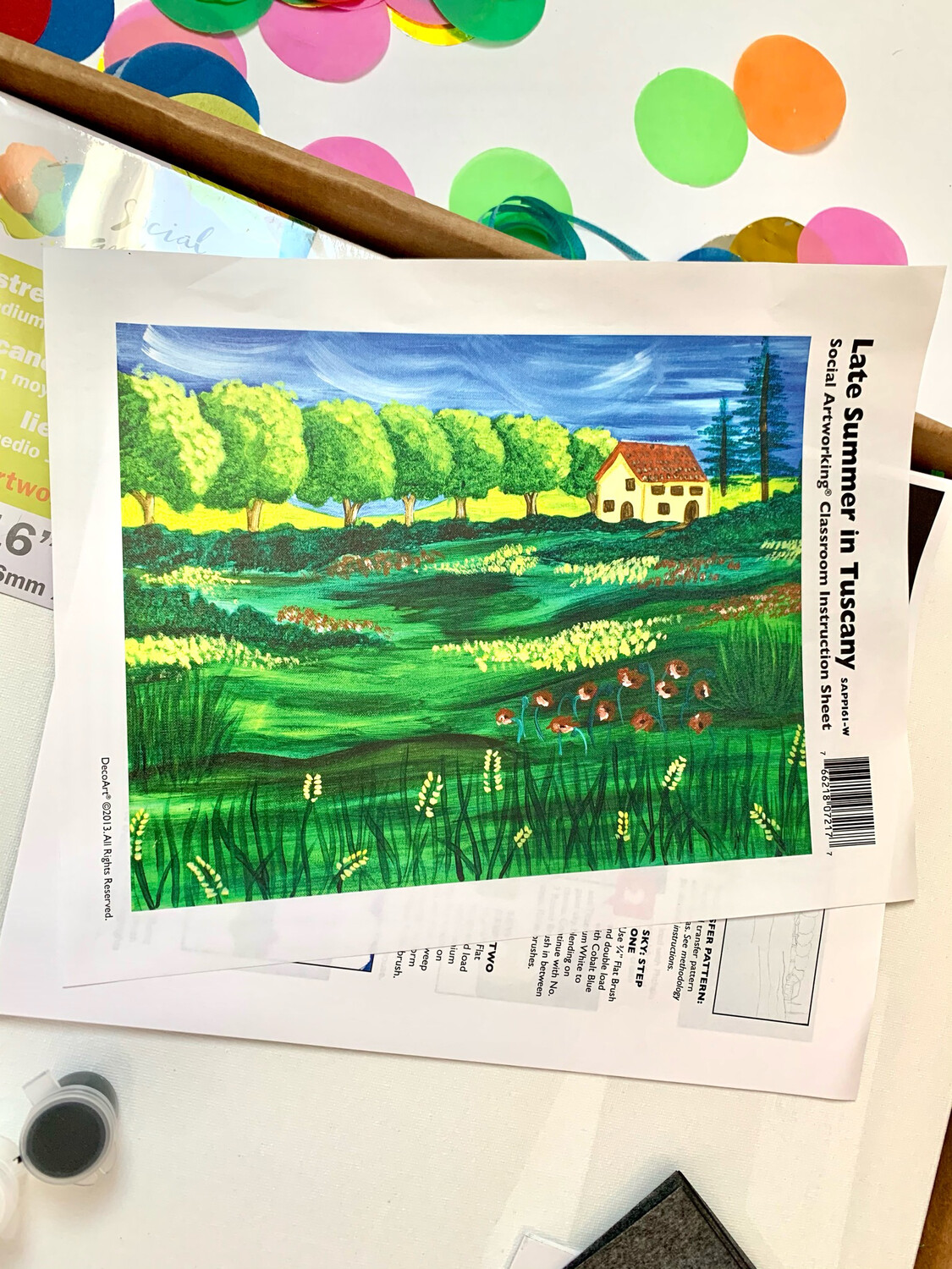 Late Summer in Tuscany ADULT Acrylic Paint On Canvas DIY Art Kit