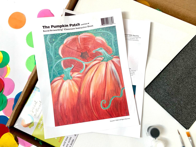 Pumpkin Patch ADULT Acrylic Paint On Canvas DIY Art Kit