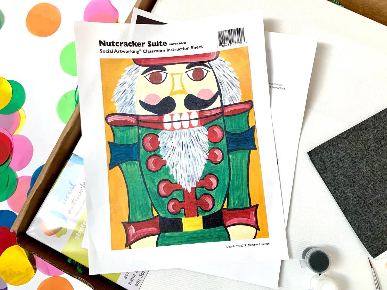 Nutcracker Suite ADULT Acrylic Paint On Canvas DIY Art Kit