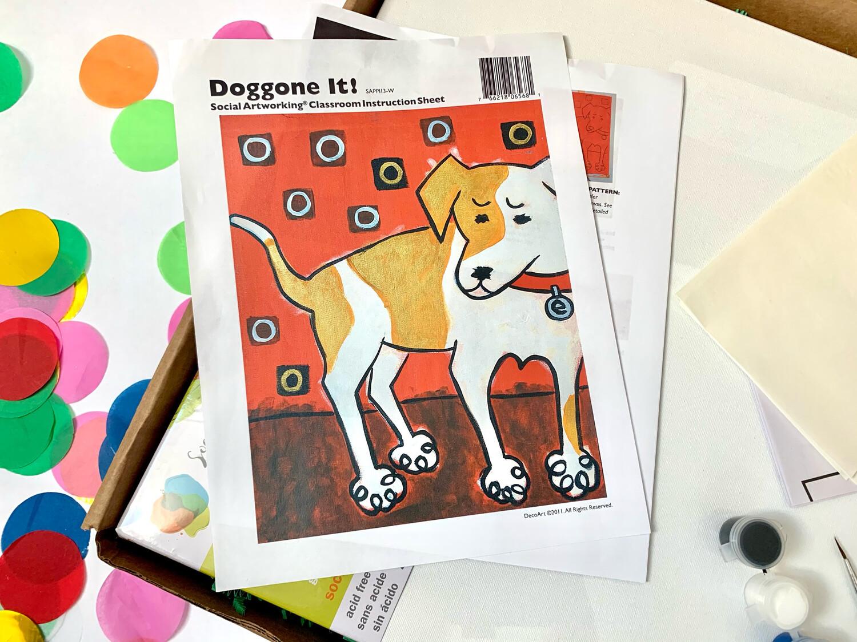 Doggone It! ADULT Acrylic Paint On Canvas DIY Art Kit