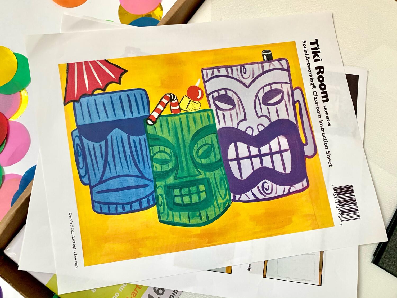Tiki Room ADULT Acrylic Paint On Canvas DIY Art Kit